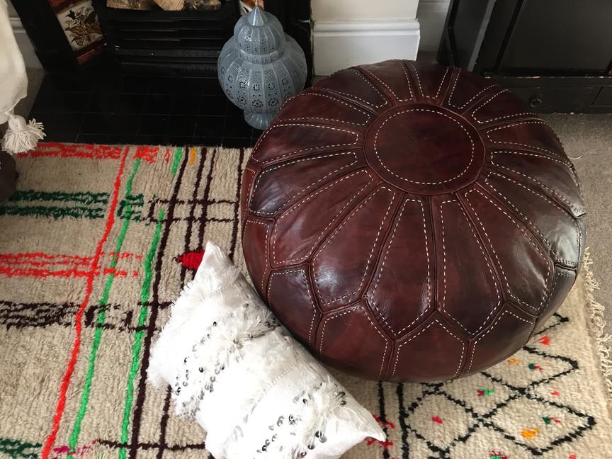 Leather Pouffe Riad