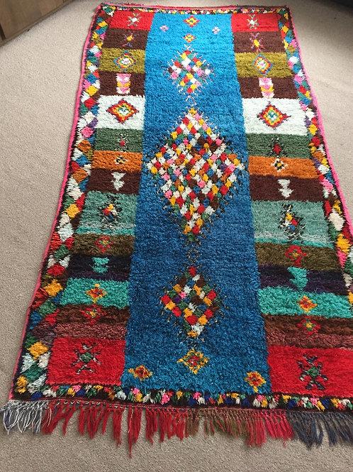 Handwoven Diamond Azilal Rug, pure Wool (AZC30)