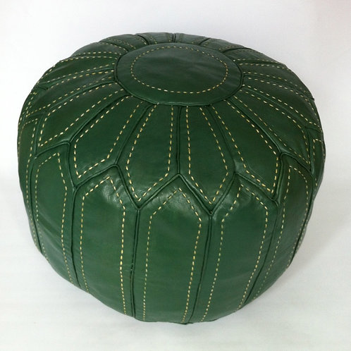 Handcrafted Contemporary Leather Pouffe (RP208)