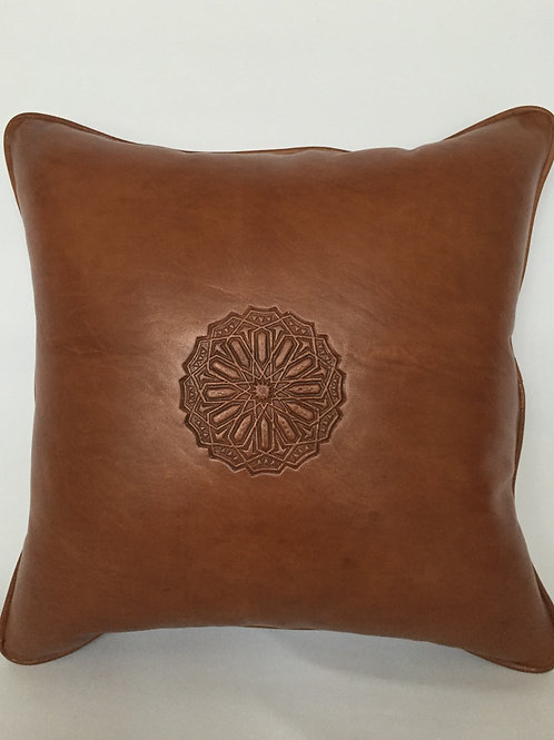 Leather Square Cushion Cover in Arabic (CAD214)