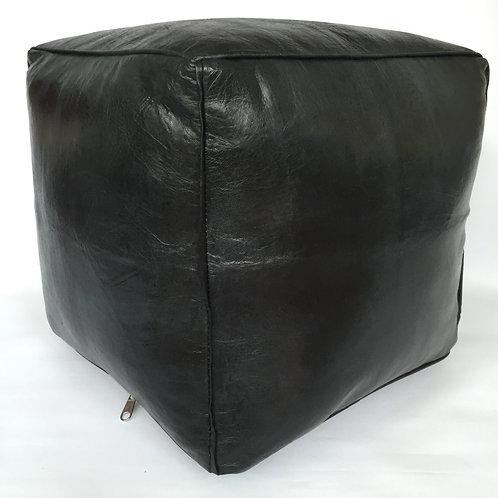 Moroccan Cube design Pouffe,Leather (PC334)