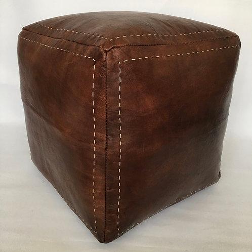 Moroccan Cube design Pouffe,Leather (PC331)
