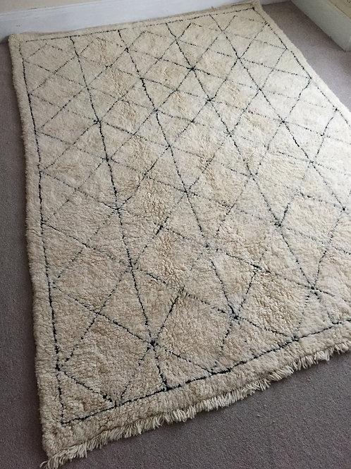 Moroccan Genuine 100% Wool Beni Ourain Rug (BO49)