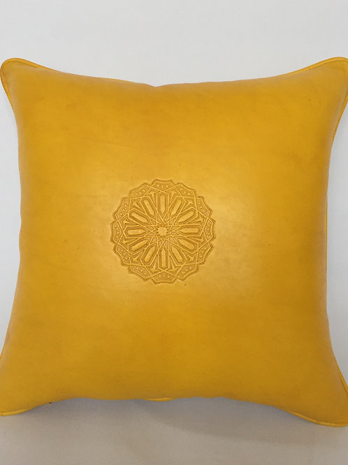 Leather Square Cushion Cover in Arabic (CAD215)