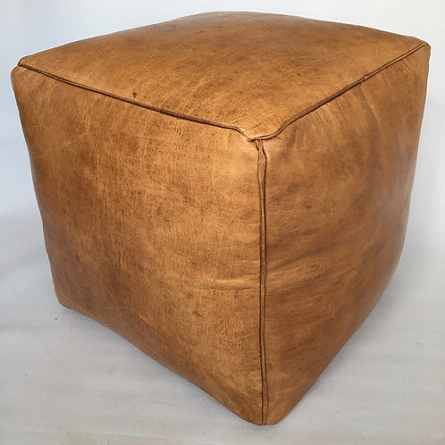 Moroccan Cube design Pouffe,Leather (PC333)