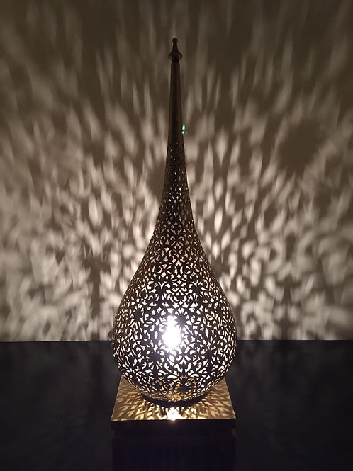 Authentic Serrouj Karou Brass Table Lamp (BLS80)