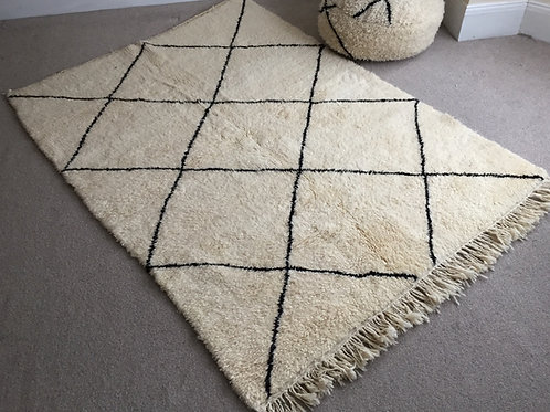 Moroccan Genuine 100% Wool Beni Ourain Rug (BO47)