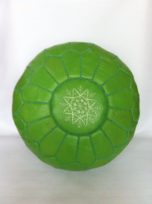 Leather Green Pouffe (p426)