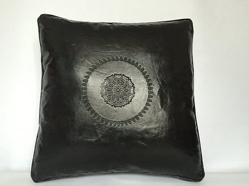 Leather Square Cushion Cover in Arabic (CAD221)