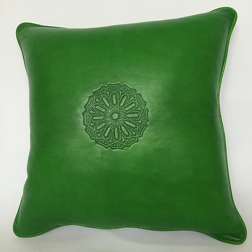 Leather Square Cushion Cover in Arabic (CAD216)