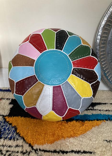 Multi colour Pouffe