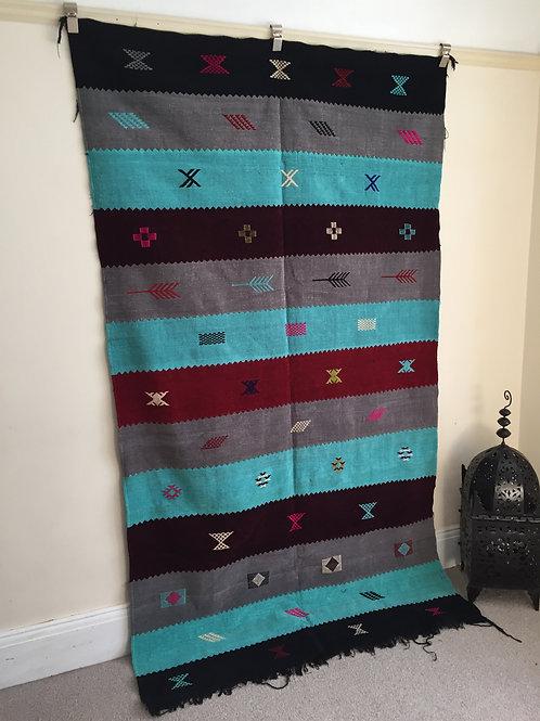 Safia Soft Kilim rug | Berber Rug | Atlas Rug | Bohemian rug | Code : 1004