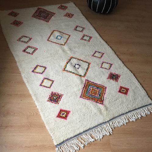Colorful Handwoven Azilal Rug, pure Wool (006AZ18)