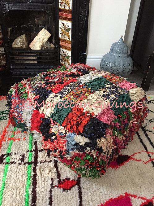 Vintage Moroccan Cushion Boucherouite (FCBC-002)