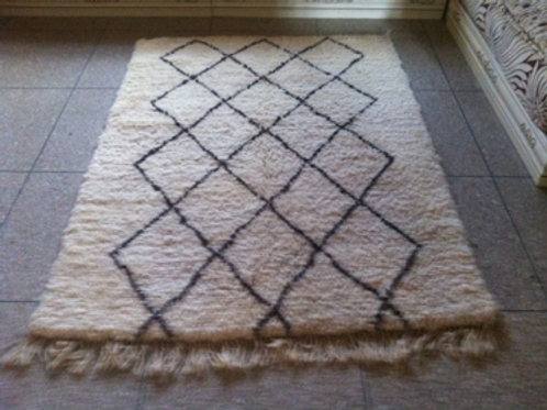 Moroccan Genuine 100% Wool Beni Ourain Rug Lux04