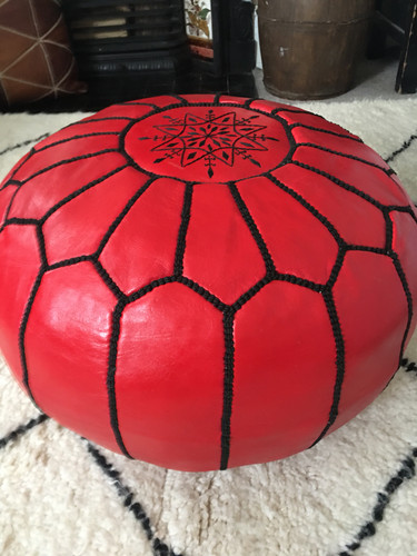 Red Pouffe
