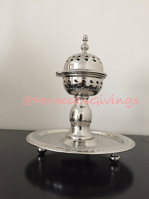 SMALL Handcrafted Alpaca Silver Incense Burner