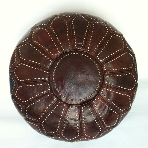 Handcrafted Contemporary Leather Pouffe ( RP209)