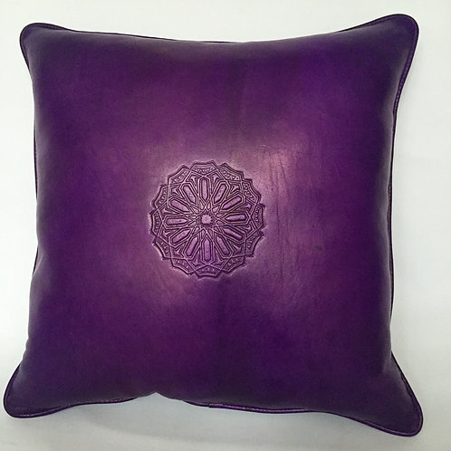 Leather Square Cushion Cover in Arabic (CAD211)