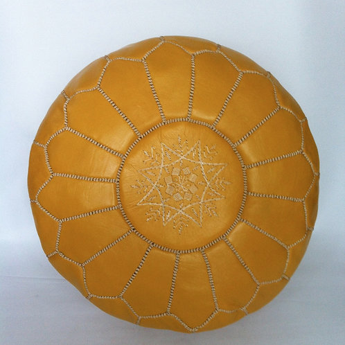 Leather Yellow Pouffe (p429)