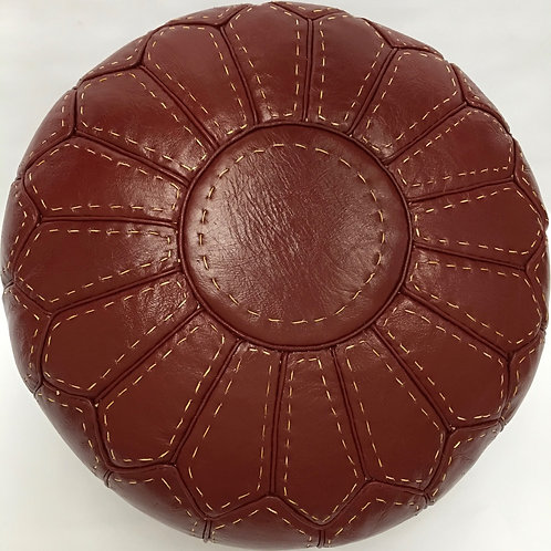 Handcrafted Contemporary Leather Pouffe (RP207)
