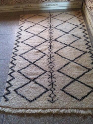 Moroccan Genuine 100% Wool Beni Ourain Rug Izourra