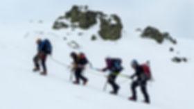 Guiado de personas ciegas en montaña