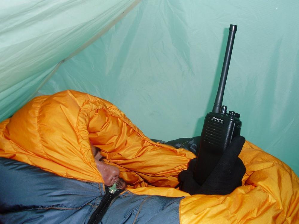 Comunicando desde el campo 3 con el campo base