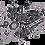 Thumbnail: NOX Tasche mit Stickmotiv Dresden weiß-schwarz