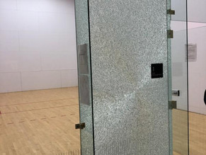 RACQUETBALL COURT ANNOUNCEMENT