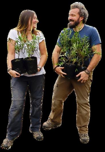 Katharina Romain Foliumize holding trees arbres couple