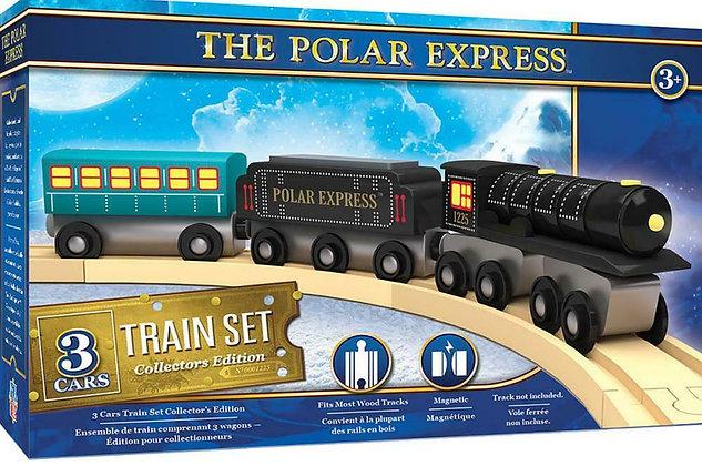 The Polar Express™ Wooden 3 Car Train Set: Collector's Edition