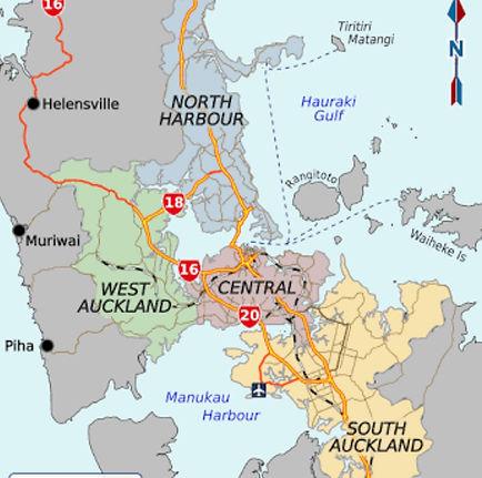 Auckland Region Map