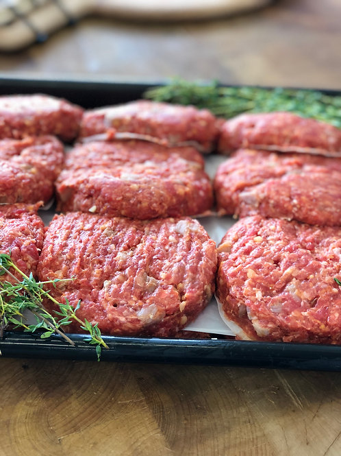 BBQ Bacon Beef Burger Patties 6 pack