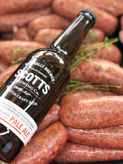 Beef and Beer Sausages 6 pack