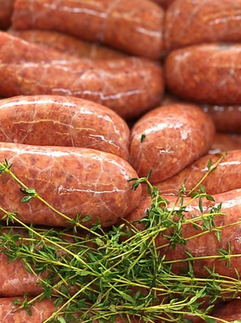 Beef and Horseradish Sausages 6 pack