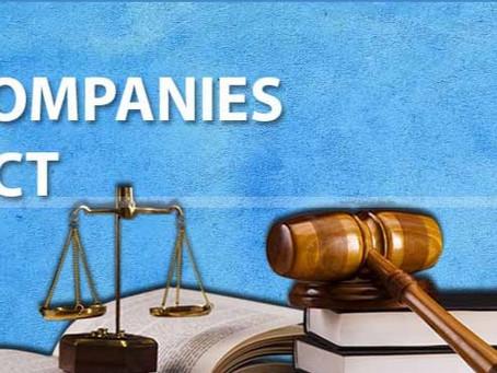 The Companies Act Amendment, 2020