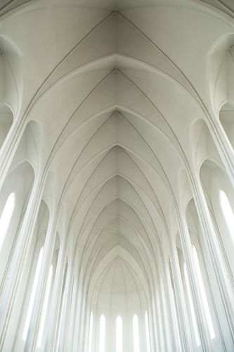 White Arched Ceiling