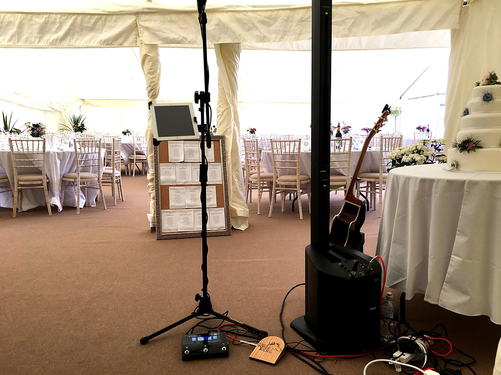 Danny Jones Music Bose L1 Compact PA Set up with Walden Acoustic Guitar