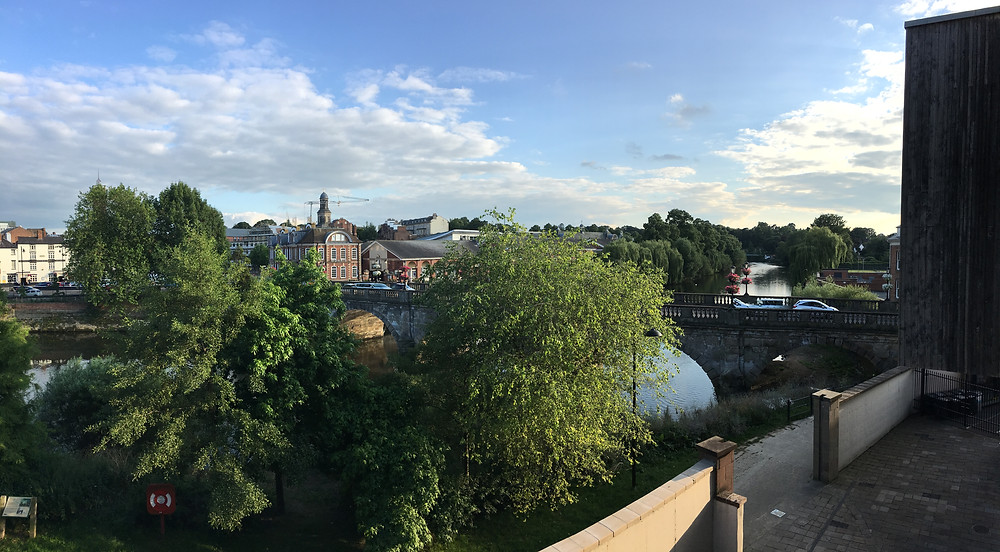 Overlooking the River Severn, Shrewsbury.