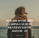 Suicide is the 3rdleading cause ofdeath