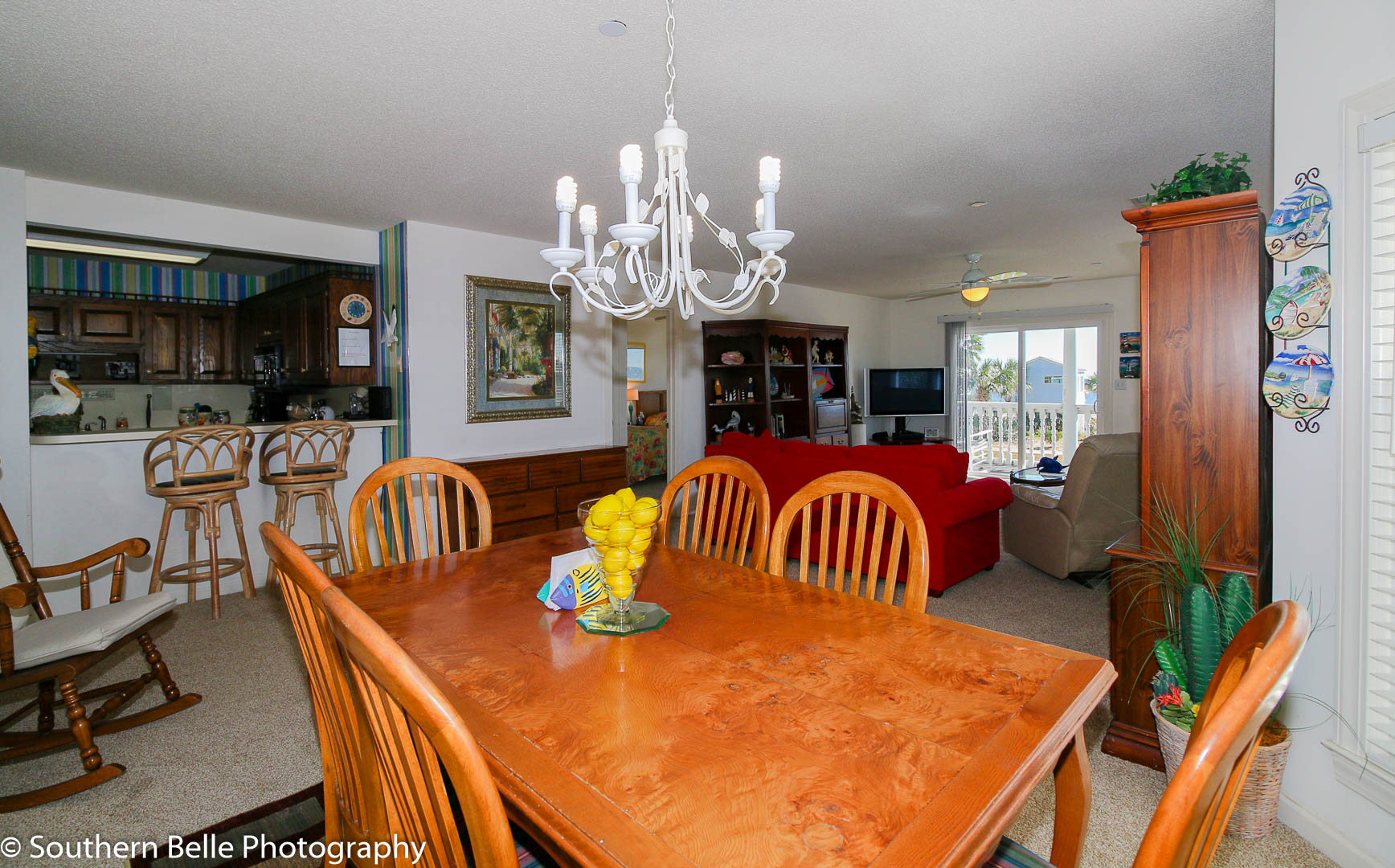 6.Dining Room Kitchen Living Room View WM