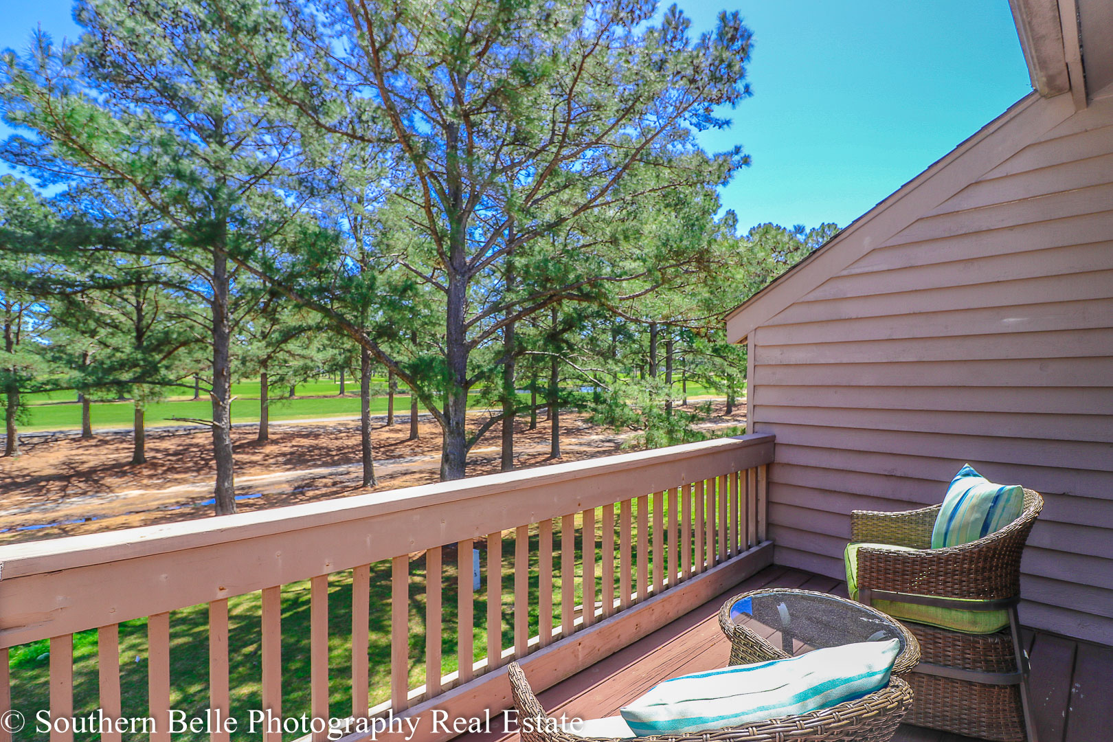 25. Master Bedroom Balcony with Golf Course Views WM