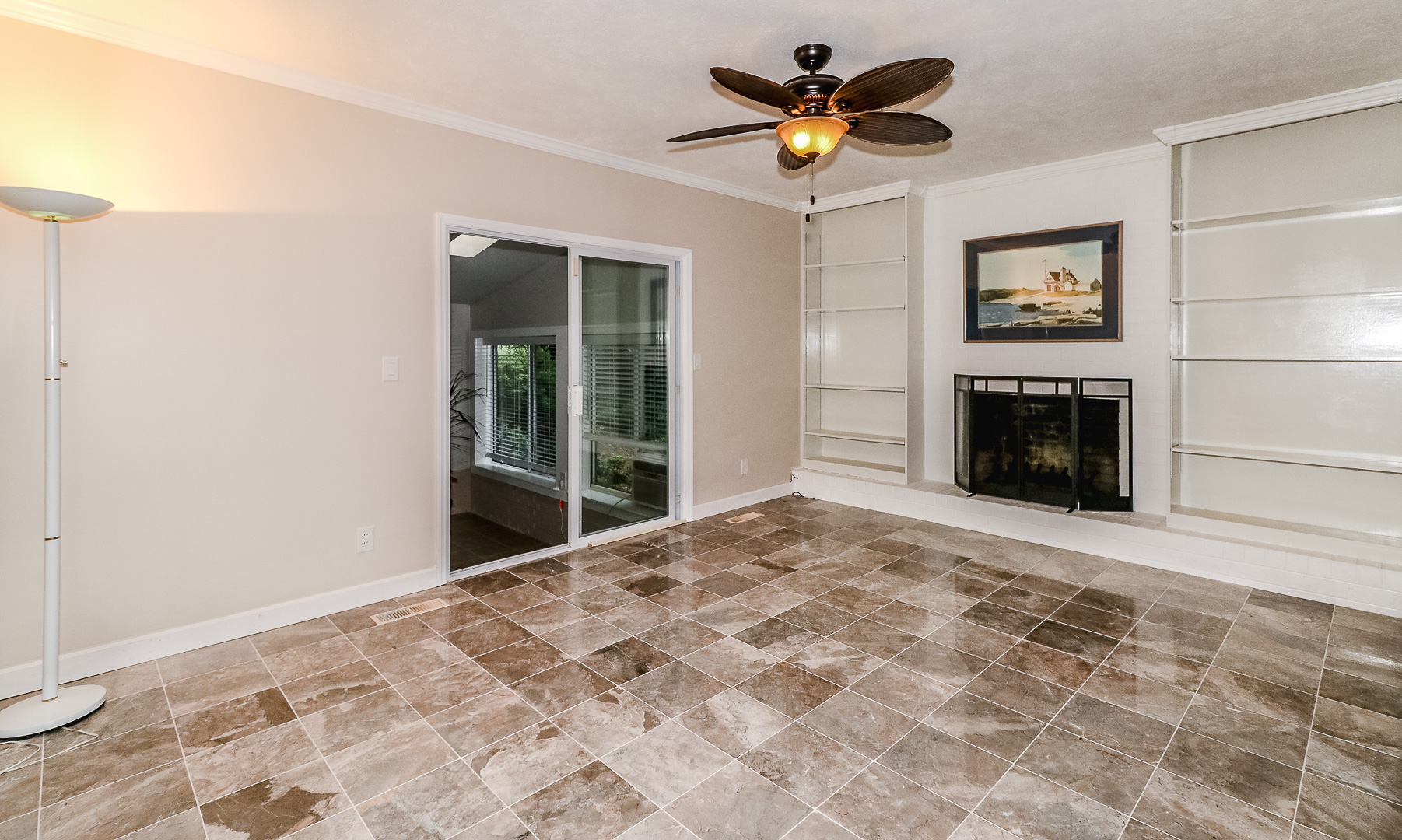 19. Formal Lving Room with Buil ins and Fireplace updated MLS