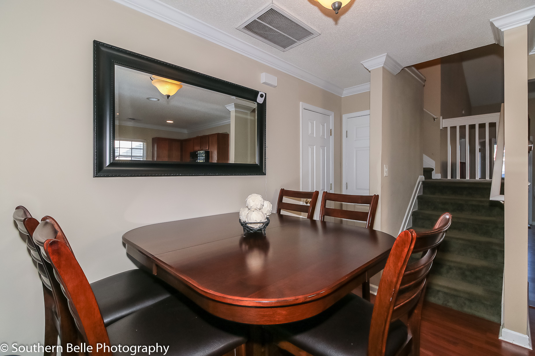 14. Dinning Area with 1-2 Bath and Upstairs View WM