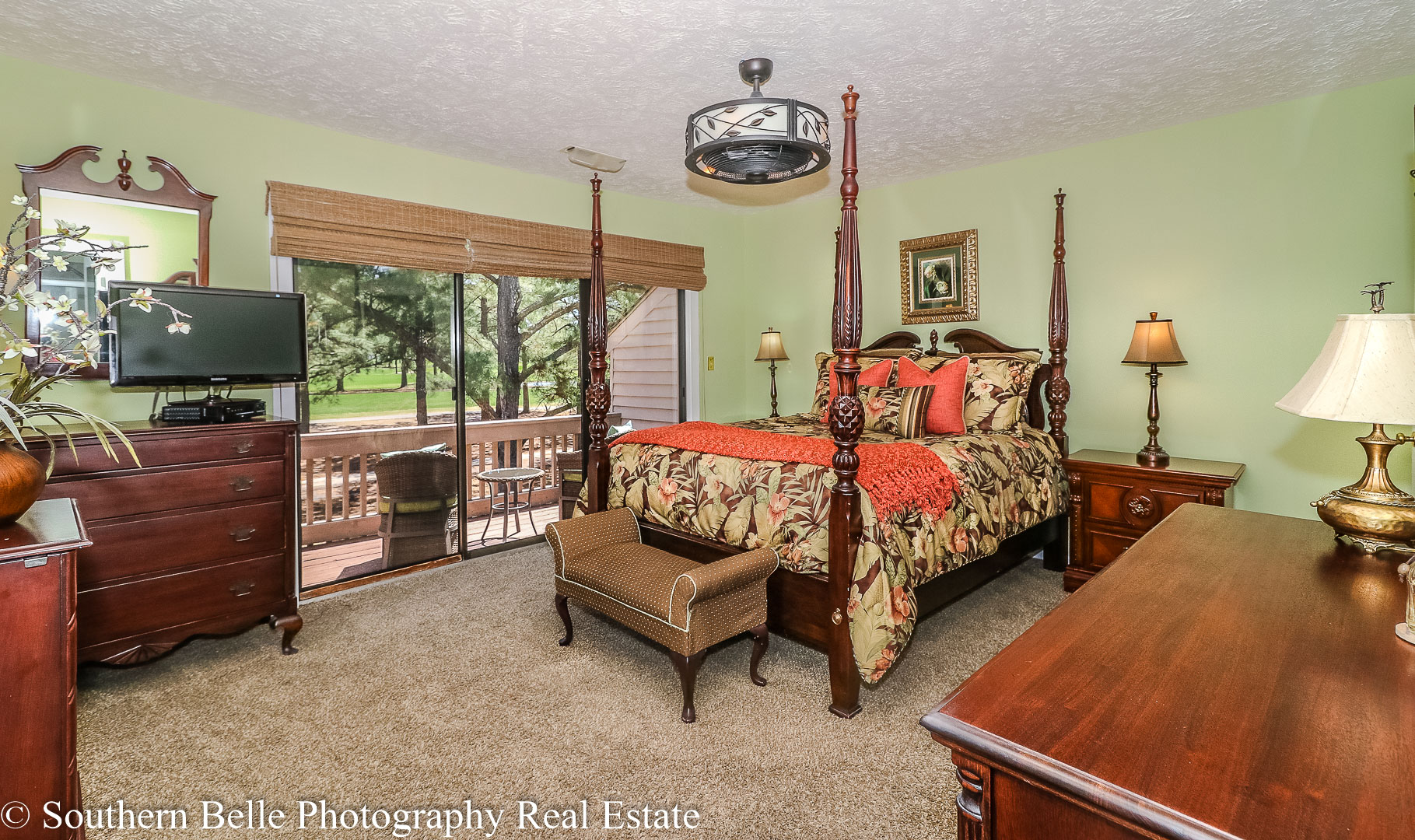22. Master Bedrom with Golf Course Views WM