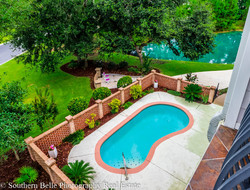 19. Aerial View of Pool and Sitting Area WM