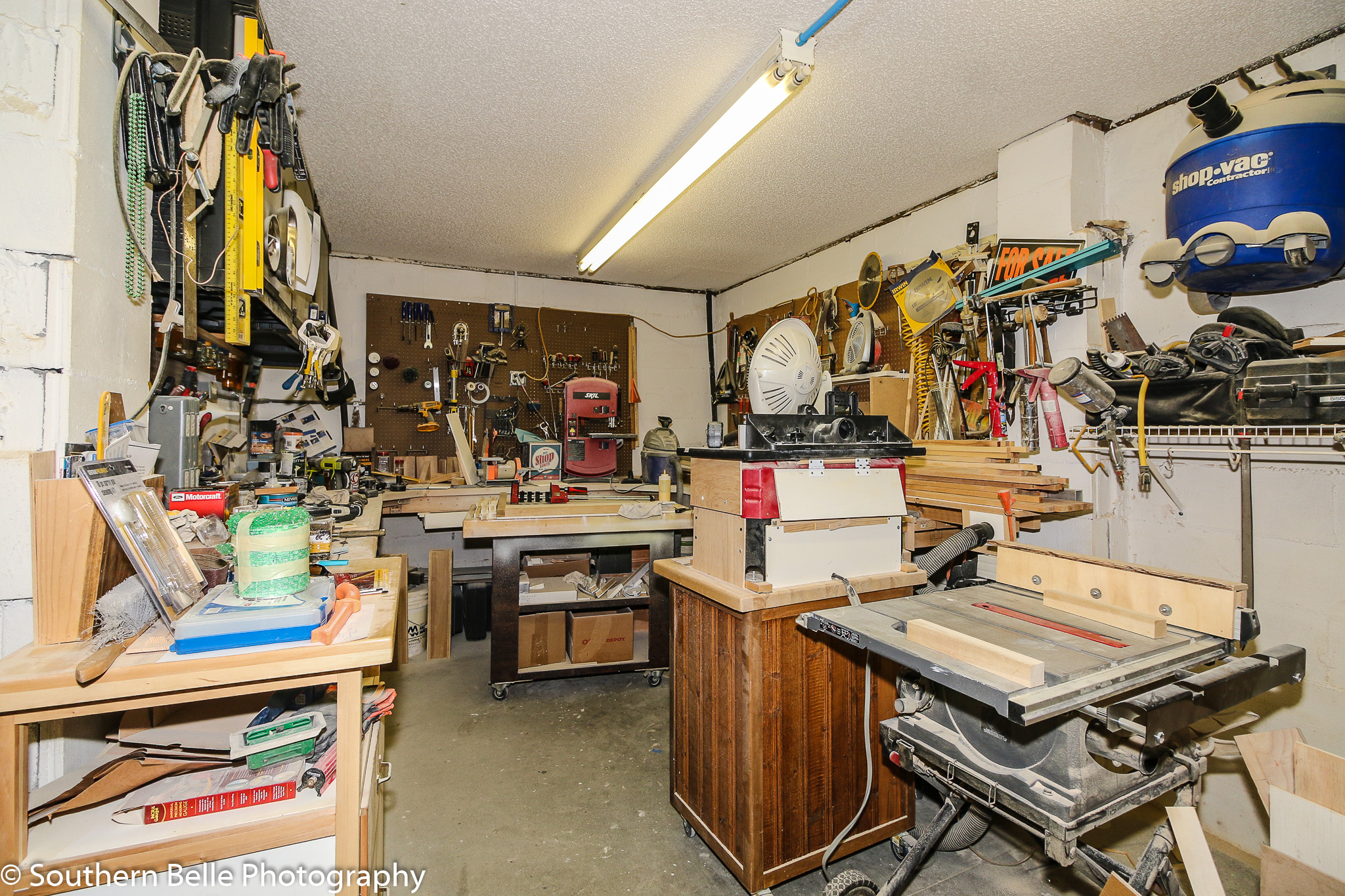 22. Workshop in basement WM