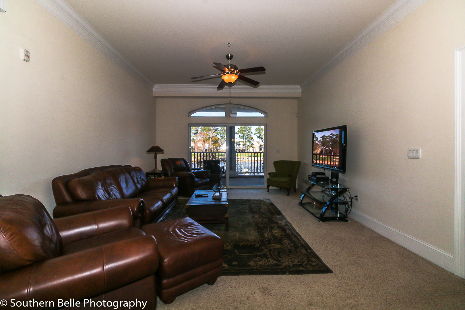 13. Living Area with Intercoastal and golf View WM