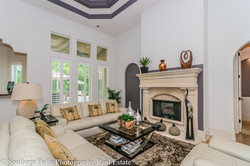 7. Formal Living Room with Fireplace WM